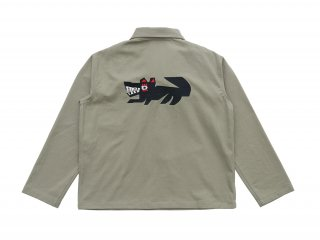 아노니모아노니마(anonimoa) LUPO Heavyweight Cotton Work Shirt - Military green