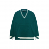 블러프(bluff) V-Neck Oversized Knit [GREEN]
