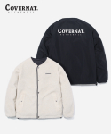 커버낫(COVERNAT) REVERSIBLE NOCOLLAR FLEECE JACKET BLACK