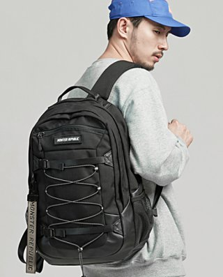 몬스터리퍼블릭(monsterrepublic) WOOSTER BACKPACK / BLACK