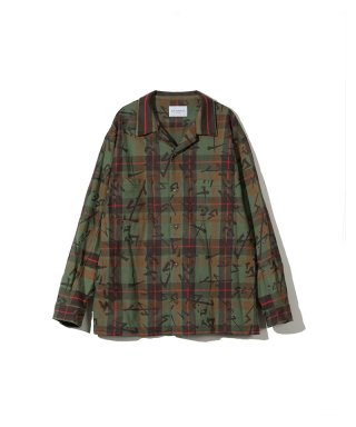 블랙 위어도스(blackweirdos) SEX FLANNEL SHIRT / GREEN