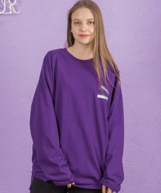 써치410(search410) ONOFF LONG SLEEVE_VIOLET