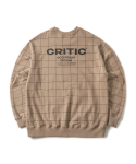 크리틱(critic) BACKSIDE LOGO SWEATSHIRT(L/BEIGE)_CTONPCR05UE3