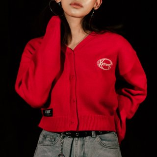 키치워크(kichwork) 19 SS Signature Crop Cardigan_Red