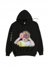ADLV BABY FACE HOODIE BLACK DONUT1