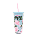 밴도(BAN.DO) sip sip tumbler with straw rose parade