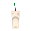 밴도(BAN.DO) sip sip tumbler with straw mini grid