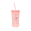 밴도(BAN.DO) SIP SIP TUMBLER WITH STRAW - I AM VERY BUSY (빨대 텀블러)