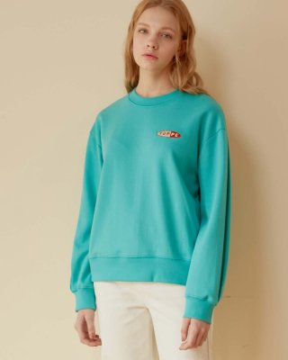엽페(yuppe) PLEATED SWEATSHIRTS_MINT