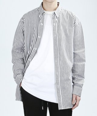 베리베인(veryvain) VERTICAL WASHING SHIRTS (BLACK)