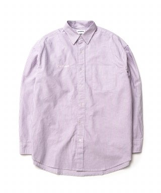 큐티에잇(qt8) KP Oxford Stripe Oversize Shirt (Purple)