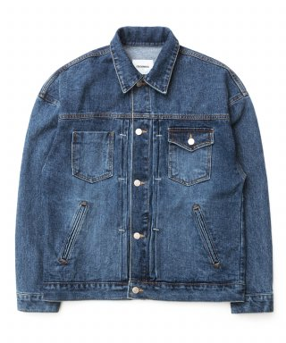 큐티에잇(qt8) KP Pleated Denim Jacket (Blue)