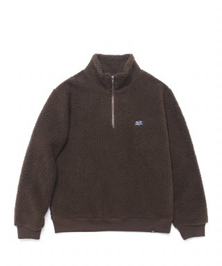 프룻오브더룸(fruitoftheloom) BOA HALF ZIP-UP BROWN