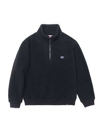 프룻오브더룸(fruitoftheloom) BOA HALF ZIP-UP BLACK