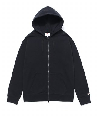 프룻오브더룸(fruitoftheloom) WAPPEN HOOD ZIP-UP BLACK