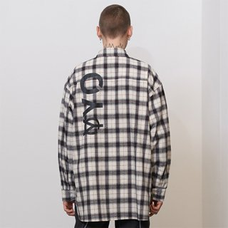 오와이(oy) LOGO CHECK SHIRTS - WH