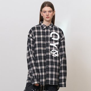 오와이(oy) LOGO CHECK SHIRTS - BK