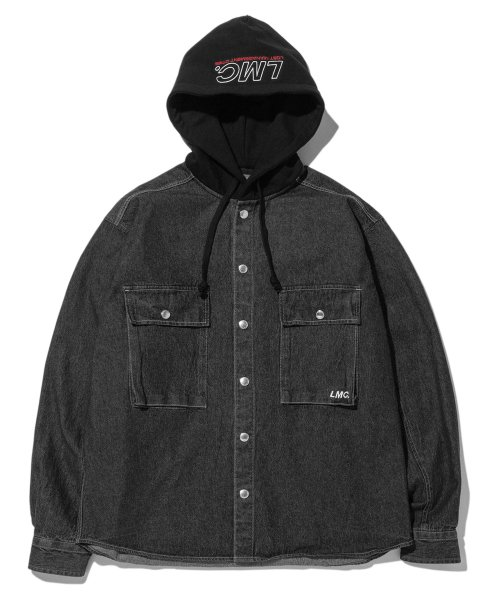 엘엠씨(LMC) LMC HOODED DENIM SHIRT black