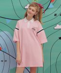 로라로라(ROLAROLA) (OP-19318) REPORTING COLLAR ONE-PIECE PINK