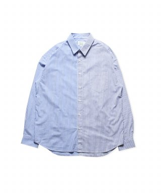 브루먼(bruman) Mixed Stripe Shirts (Blue)