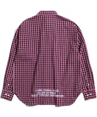 어반스터프(urbanstoff) USF Embroidered Wide Check Shirts Red