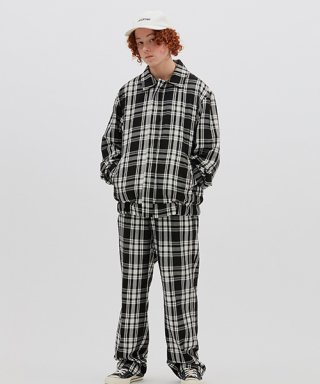 위캔더스(wkndrs) PLAID TROUSER (BLACK)