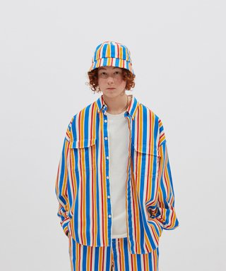 위캔더스(wkndrs) RETRO STRIPED SHIRTS JK (BLUE)