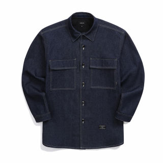 오버캐스트(overcast) Oversized Denim Shirt (Indigo)