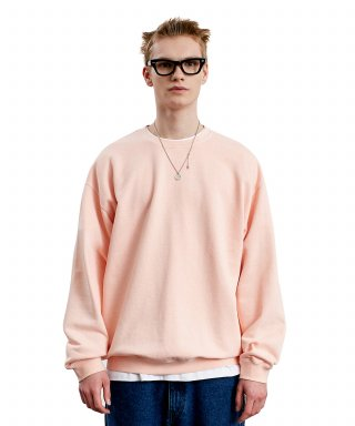 라이풀(liful) LABEL P-DYED SWEATSHIRT coral