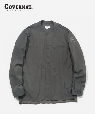 커버낫(covernat) NYLON STAND COLLAR WIND SHIRTS GRAY