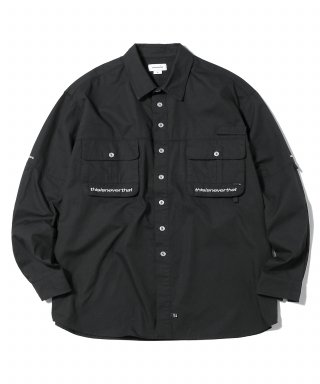 디스이즈네버댓(thisisneverthat) Sports Fishing Shirt Black