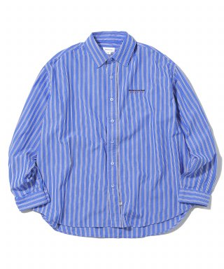 디스이즈네버댓(thisisneverthat) DSN-Logo Striped Shirt Blue