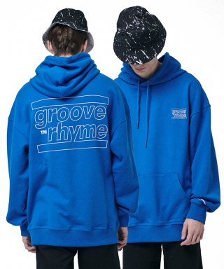 그루브라임(grooverhyme) OVER FIT BACK BIG LOGO HOODY  (BLUE) [GHD001H13BL]