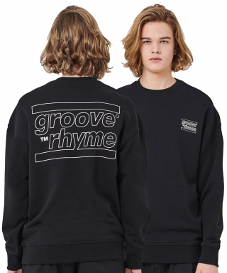 그루브라임(grooverhyme) OVER FIT BACK BIG LOGO MTM (BLACK) [GMT001H13BK]