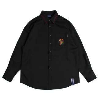 로맨틱크라운(romanticcrown) RMTCRW Collar Piping Shirt_Black