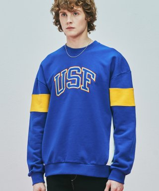 어반스터프(urbanstoff) USF 3P Embroidered Sweatshirts Blue