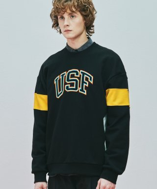 어반스터프(urbanstoff) USF 3P Embroidered Sweatshirts Black