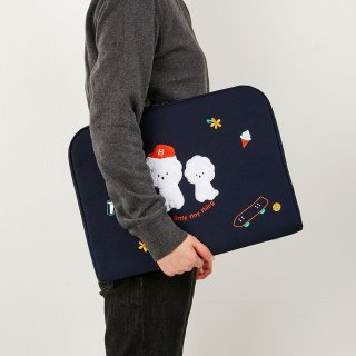 흠디자인(hmm) NOTEBOOK WATERPROOF CANVAS - buckle_Bichon