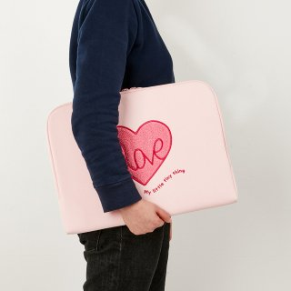 흠디자인(hmm) NOTEBOOK WATERPROOF CANVAS - buckle_Pink heart
