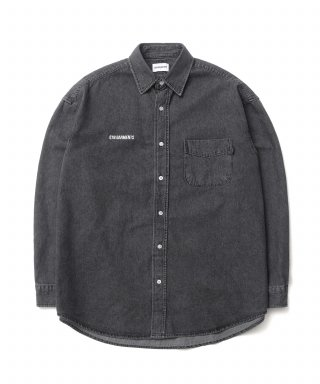 큐티에잇(qt8) KP Denim Oversize Shirt (Black)