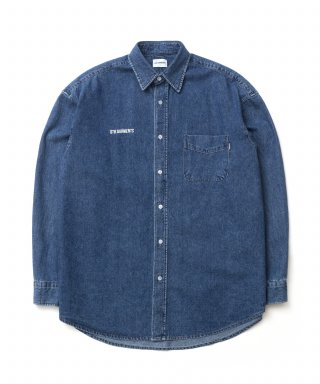 큐티에잇(qt8) KP Denim Oversize Shirt (Blue)