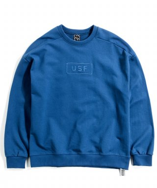 어반스터프(urbanstoff) USF Bright Embroidered Sweatshirts Sea