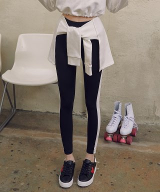 로라로라(rolarola) (LS-19166) TIED-UP LEGGINGS WHITE