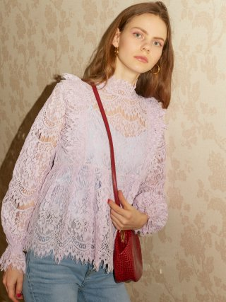 레이브(raive) Frill Lace Shirt in L/Purple_VW9SB0050
