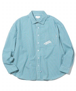 디스이즈네버댓(thisisneverthat) DIA-Logo Gingham Check Shirt Green