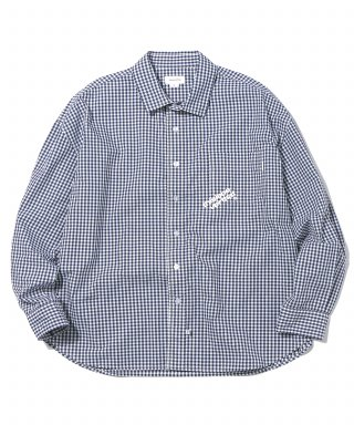 디스이즈네버댓(thisisneverthat) DIA-Logo Gingham Check Shirt Navy