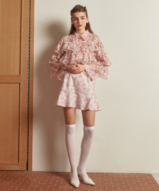 엠지엠지 스튜디오(mgmgstudio) flower frill skirt_pink