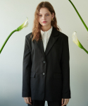 앳퍼스트사이트(AT FIRST SIGHT) WOOL PEAKED COLLAR JACKET_BK