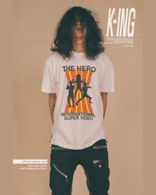 킹(king) HERO T-Shirt (White)