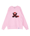 코케트 스튜디오(COQUET STUDIO) ADDICTED PATCH WORK LESSER SWEAT SHIRT [ PINK ]